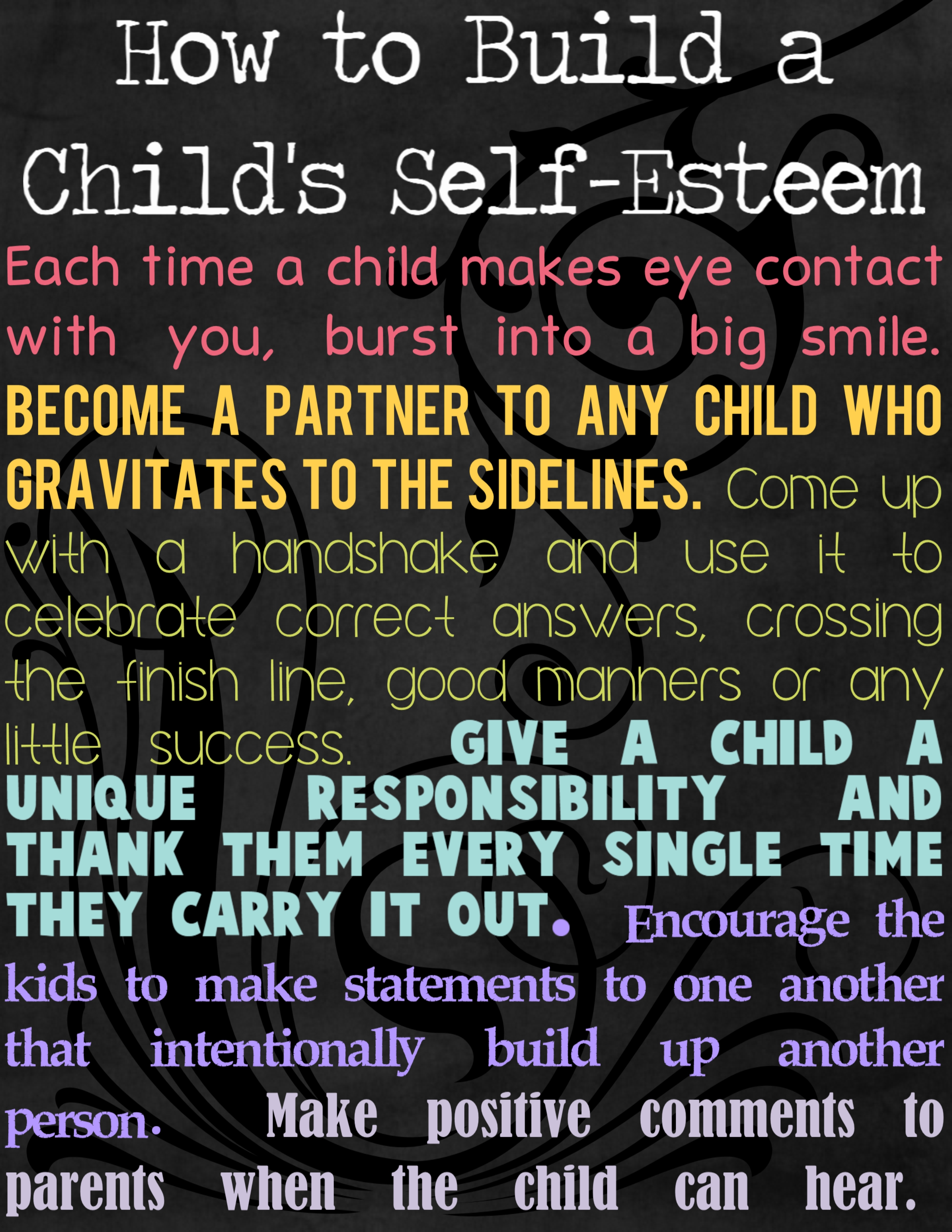 how does self esteem develop in children The rosenberg self-esteem scale, a widely used self-reportinstrument for  high self-esteem does not prevent children from smoking, drinking, taking drugs, or.